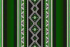 Detailed Green Traditional Folk Sadu Arabian Hand Weaving Patter Royalty Free Stock Photography
