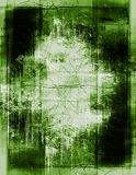 Detailed grunge border. Heavily layered frame - green version Royalty Free Stock Photography