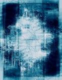 Detailed grunge border. Heavily layered frame - teal version royalty free stock image