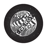 Detailed hand drawn zentangle logo Royalty Free Stock Photography