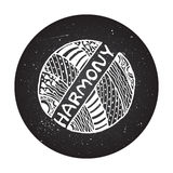 Detailed hand drawn zentangle logo Stock Photo