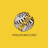Detailed hand drawn zentangle logo Stock Image