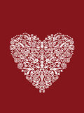 Detailed heart shaped ornament Royalty Free Stock Images
