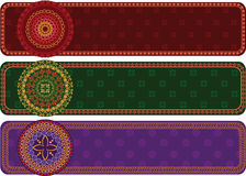 Detailed Henna Banners Stock Images