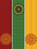 Detailed Henna Banners with mandala Stock Image