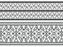 Detailed Henna Borders Royalty Free Stock Photo