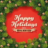 Detailed Holidays Wreath Card Stock Images