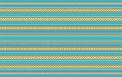 Detailed Horizontal Traditional Handcrafted Gold And Turquoise S. A Detailed Horizontal Traditional Handcrafted Gold And Turquoise Sadu Rug Stock Image