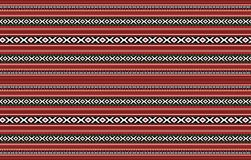 Detailed Horizontal Traditional Handcrafted Red Sadu Rug. Carpet Fabric Pattern Stock Photo