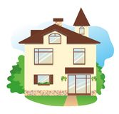Detailed house Royalty Free Stock Images