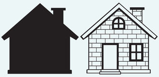 Detailed house icon Royalty Free Stock Photography