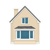 Detailed house icon isolated on white background Stock Photography