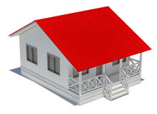 Detailed house, isolated Stock Photography