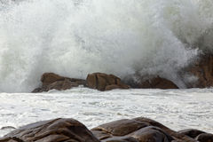 Detailed huge breaking sea wave Royalty Free Stock Photo