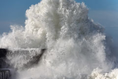 Detailed huge wave Stock Photo