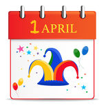 Detailed Icon. April 1 Stock Photography