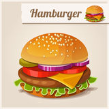 Detailed Icon. Hamburger. Stock Photos