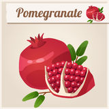 Detailed Icon. Pomegranate. Royalty Free Stock Photography