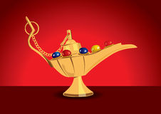 Detailed  illustration of aladdin's magic Stock Photo