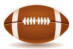 American Football Ball Isolated on Withe Stock Photos