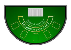 Black jack table Royalty Free Stock Images