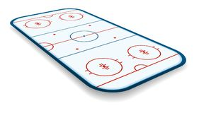 Detailed illustration of a icehockey rink, field, court with perspectives, eps10 vector.  Stock Photography