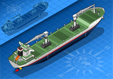 Isometric cargo ship Stock Photos