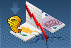 Isometric cyprus crisis Stock Photos