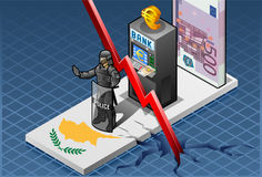Isometric cyprus crisis Royalty Free Stock Images