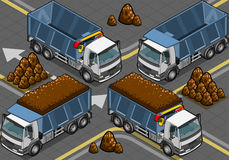 Isometric containers trucks Royalty Free Stock Image