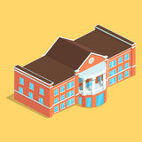 Detailed illustration of a Isometric European isolated Building. Royalty Free Stock Image
