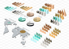 Detailed illustration of a Isometric Infographic Royalty Free Stock Image