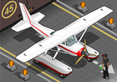 Isometric Landed Seaplane Out of Hangar Royalty Free Stock Photos