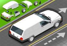Isometric White Station Wagon Car Royalty Free Stock Images