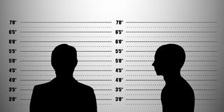 Mugshot silhouette Stock Photography