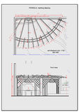 Detailed illustration of patio pergola and fireplace Stock Images