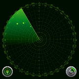 Detailed Illustration of a Radar Screen Stock Photography