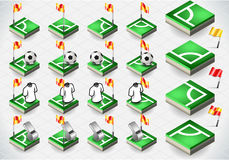 Set of Soccer Corner and Icons Royalty Free Stock Photography
