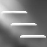 Detailed illustration of shelves on black. Stock Photos