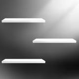 Detailed illustration of shelves on black. Stock Images