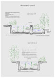 Detailed illustration of water garden arrangement Royalty Free Stock Photo