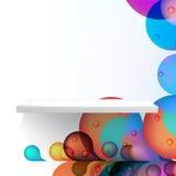 Detailed illustration of white shelves. + EPS10 Royalty Free Stock Photography