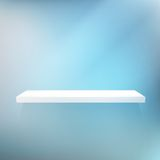 Detailed illustration of white shelves. Royalty Free Stock Images