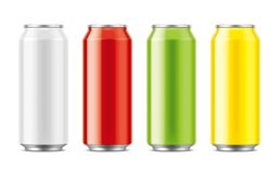 Aluminum cans for drinks. Big size Royalty Free Stock Photography