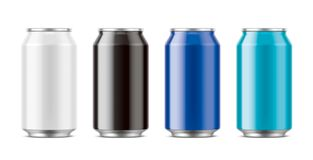 Aluminum cans for drinks. Medium size Royalty Free Stock Photography