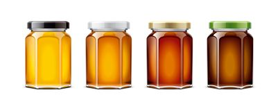 Clear Honey Jar mockup. Royalty Free Stock Image