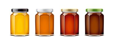 Clear Honey Jar mockup. Second version royalty free stock photography