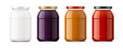 Clear Jar mockup. stock photos