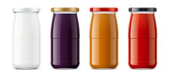 Clear Jar mockup. royalty free stock photography