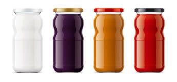 Clear Jar mockup. stock images